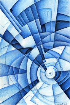 Non-objective Colored Pencil Design....line, shape, form, space, color and value