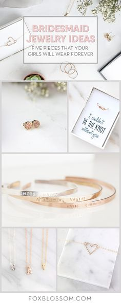 Great jewelry ideas for your bridesmaid gifts!  Pieces they will wear and love long after the wedding.