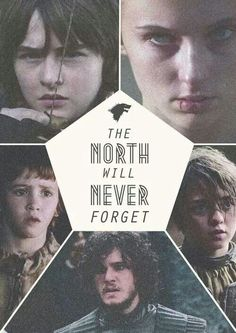 The NORTH remembers. All Lannisters (except Tyrion, of course) and Boltons and Freys.. will.. PAY. (I hope!!!)