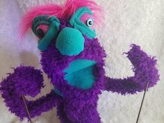 Bright Pink Hair, Purple Teal, Teal Accents, Wooden Beads, Puppets, Pretty In Pink, Paisley, Arms, Etsy Shop