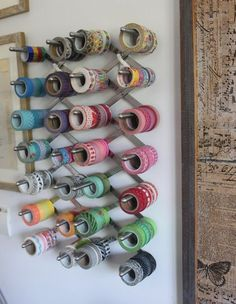 #papercraft #crafting supply #organization: Two Left Hands: washi tape storage