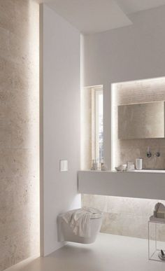 Reported News on Contemporary Bathroom Designs With Freestanding Exposed - flipsyourhome Bad Inspiration, Bathroom Inspiration, Contemporary Bathroom Designs, Indirect Lighting, Bathroom Renos, Master Bathroom, Beautiful Bathrooms, Luxurious Bathrooms, Apartment Interior
