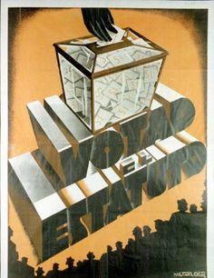 Votad el estatuto :: Cartells del Pavelló de la República (Universitat de Barcelona) Political Posters, Civilization, Spanish, War, Vintage Posters, Vintage Posters, Illustrations, Spain, Spanish Language