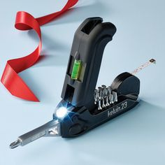 Kelvin.23 Multi-Tool. Parts are stored inside the tool. Useful to both men and women. Awesome portability. Make it part of your gift list. $29.99 My guy would love this!
