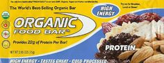 Protein Bar, 100% Raw, Cold-Processed, Organic Food Bar (2.65oz / 75g) * With 22 grams of easy-to-digest protein from delicious raw, vegan, certified organic foods, this may be the healthiest and best-tasting protein bar ever created!