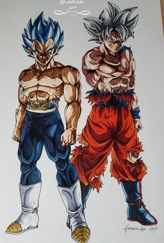 Goku and Vegeta in their strongest forms Kid Goku, Goku And Vegeta, Natsu Fairy Tail, Dragon Ball Z, Dragon Mask, Foto Do Goku, Anime Echii, Z Warriors, Manga Dragon