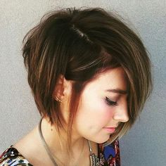 Cute Asymmetrical Stacked Bob Hairstyles
