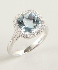 Armadani aquamarine and diamond square ring if I were a jewelry person.