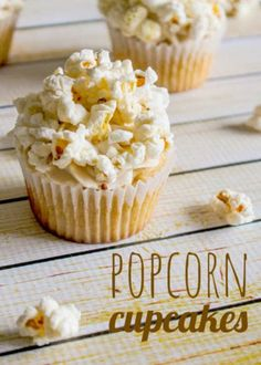 Popcorn Cupcakes- these look disgusting to me, but I bet my husband would love them.