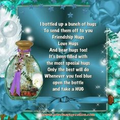 Jewels Art Creation ❤️From my beautiful friend NOLA❤️ Nanny Quotes, Hug Quotes, Friend Quotes, Qoutes, Life Quotes, Thinking About U, Crushing On Someone, Sending Hugs, Love Hug