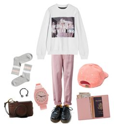 """""""Untitled #9"""" by ihaterobbiejcm on Polyvore featuring Dr. Martens, Nixon, Monki, Royce Leather and UNIF"""