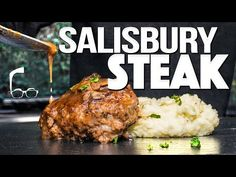 THE BEST SALISBURY STEAK (TRUST ME...IT'S NOT WHAT YOU THINK!)   SAM THE COOKING GUY - YouTube Ground Meat Recipes, Pork Recipes, Cooking Recipes, Cooking Videos, Cake Recipes, Great Recipes, Dinner Recipes, Dinner Ideas