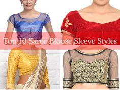 Saree Blouse Sleeve Designs, Blouse Sleeve Designs for Silk Sarees, Blouse Sleeve Designs for Designer Sarees, Saree Blouse Sleeve Styles