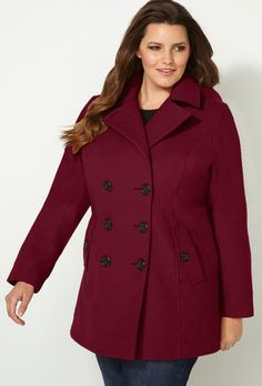 Avenue Wool Peacoat