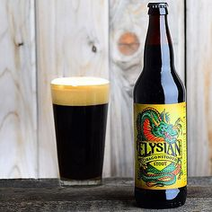 """This is an amazing stout-when you are in the mood to """"chew"""" your beer! Elysian Brewing Dragonstooth Stout"""