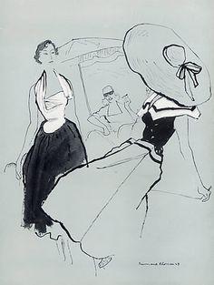 Paquin (Couture) 1949 Bernard Blossac, Mad Carpentier, Rural Fashion