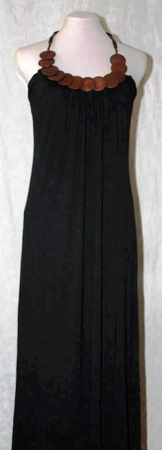 Soft black maxi dress
