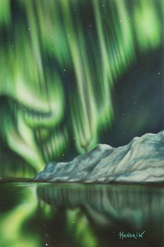 "Northern lights series "" original painting, oil and acrylics on Fabriano hot pressed cotton sheet; Northern Lights, Nature, Painting, Travel, Etsy, Vintage, Naturaleza, Viajes, Painting Art"