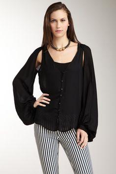 blouson sleeve blouse