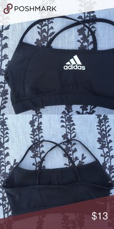 Adidas sports bra Womens. Light support. Like new in excellent condition Adidas Tops Crop Tops