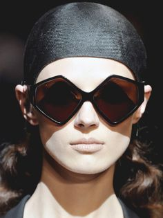 hussein chalayan - now, those are sunglasses i would wear...