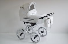 BABY FASHION ISABELL RETRO BABY PRAM AND PUSHCHAIR 2IN1- WHITE ECO-LEATHER | eBay