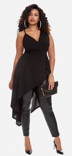 Plus Size Peplum Top - Plus Size Fashion for Women #plussize