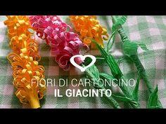 ▶ Tutoria: Come realizzare fiori di carta, Il Giacinto - La Figurina - YouTube