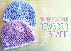 Super Simple Newborn Beanie, Free Crochet Pattern; Charity Hat, Hats for Orphans (Free Crochet Pattern!)