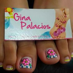 Vɨʋɨaռa Cute Toe Nails, Sassy Nails, Cute Nail Art, Pedicure Designs, Toe Nail Designs, Feet Nails, Toenails, Pretty Pedicures, Summer Toe Nails