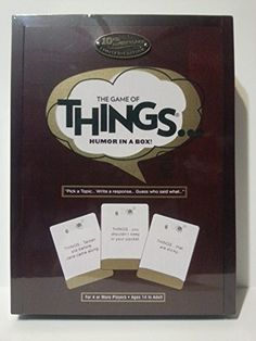 The Game of Things.. Humor in a Box!... $29.89