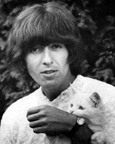 george harrison and white kitty