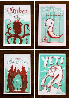 mysterious creatures poster / monster friends