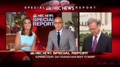 NBC News Cheers on Gay Marriage Ruling: Will 'Go Down in the Record Books' with Brown