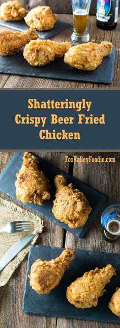 Shatteringly Crispy Beer Fried Chicken Recipe