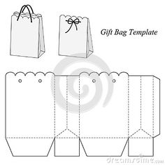 Interesting Gift Bag Template Stock Vector - Illustration of graphics, brand: 48154685 Diy Gift Box, Diy Box, Diy Gifts, Gift Boxes, Best Gifts, Paper Gift Bags, Paper Gifts, Diy Paper, Paper Box Template