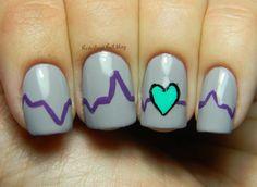 Neverland Nail Blog heart #nail #nails #nailart