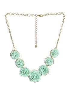 7 Rose Statement Necklace - Teen Clothing by Wet Seal