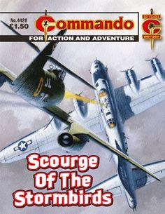 "Commando ""Scourge of the Stormbirds"" Sci Fi Comics, War Comics, Old Comic Books, Comic Book Covers, Buck Danny, Ian Kennedy, Pulp Fiction Comics, Books For Boys, Star Art"