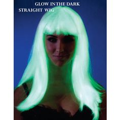 Light up the night with more than your glowing personality with our adult Glow in the Dark Straight Wig. It will bring out your inner glam girl with a Glow Costume, Costume Wigs, Dark Costumes, Halloween Costumes, Halloween Party, Halloween Ideas, Halloween 2014, Happy Halloween, Night Club Dance