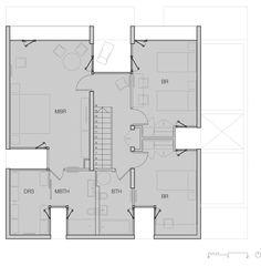 First floor plan of Casa La Canada by Ricardo Torrejon