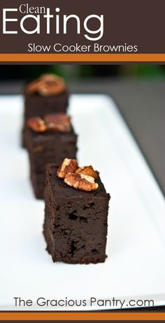 Clean Eating Slow Cooker Brownie Recipe