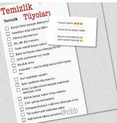 Temizlik Wedding Planer, Keep In Mind, Decor Interior Design, Motto, Cleaning Hacks, Back To School, Self, Organization, Homemade