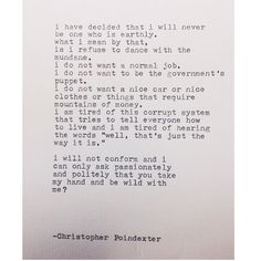 The Blooming of Madness poem #230 written by Christopher Poindexter