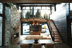 This gorgeous modern mountain prefab home is set amongst the woods in Martis Camp, North Lake Tahoe, completed by design firm Sagemodern. Architecture Durable, Houses Architecture, Interior Architecture, Interior Design, Modern Mountain Home, Mountain Homes, Mountain Decor, Mountain Cabins, Cozy Living Spaces
