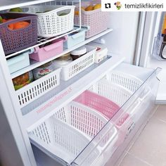 Ideas Home Organization Hacks Refrigerator Organization, Kitchen Organization Pantry, Diy Kitchen Storage, Home Organization Hacks, Home Decor Kitchen, Interior Design Kitchen, Diy Home Decor, Kitchen Pantry Design, Refrigerator Storage