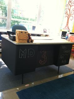 Painted Metal Desk Loft W Dog I M In Dream House Pinterest Desks And