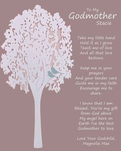 Godmother gift Personalized gift for Godmother by BoutiqueBlu