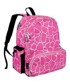 Another great find on #zulily! Pink Giraffe Megapak Backpack #zulilyfinds