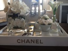 Chanel Tray - living room coffee table